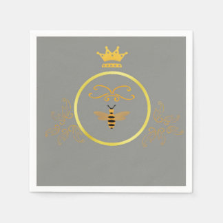 Bee with Crown Paper Napkins