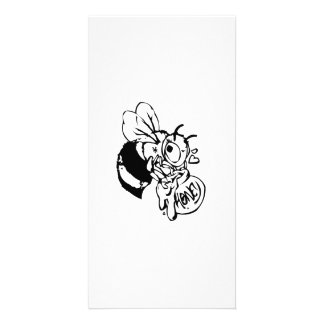 Bee with Honey Photo Greeting Card