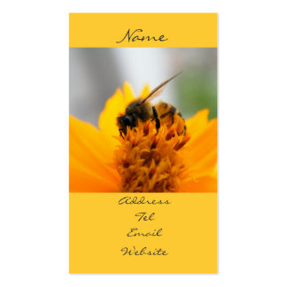 Bee With Me Double-Sided Standard Business Cards (Pack Of 100)