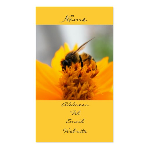 Bumble bee business card templates page2 bizcardstudio for Bee business cards
