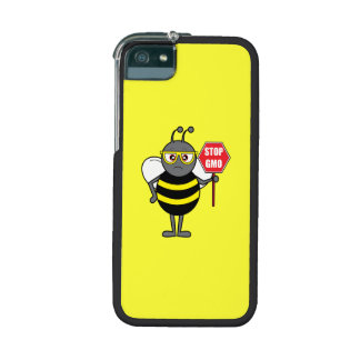 Bee with Stop Sign: Colony Collapse Disorder iPhone 5 Covers