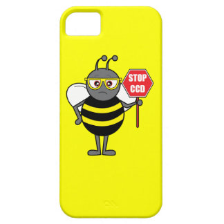 Bee with Stop Sign: Colony Collapse Disorder iPhone SE/5/5s Case