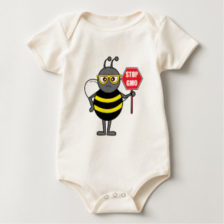Bee with Stop Sign: GMO Baby Creeper