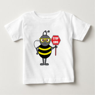 Bee with Stop Sign: GMO Baby T-Shirt