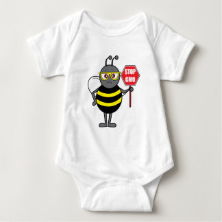 Bee with Stop Sign: GMO T-shirt