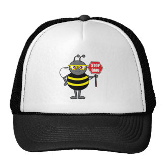 Bee with Stop Sign: GMO Trucker Hat