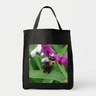 Bee with Velvet Flowers Grocery Tote