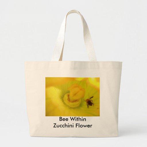 Bee Within Zucchini Flower Jumbo Tote Bag