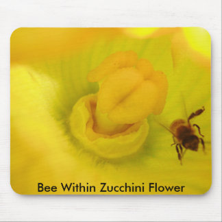Bee Within Zucchini Flower Mouse Pad