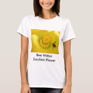 Bee Within Zucchini Flower T-Shirt