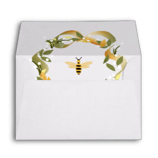 Bee Wreath Envelope