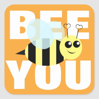 Bee You Square Sticker