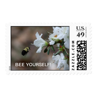 """BEE YOURSELF""  Encouraging stamp"