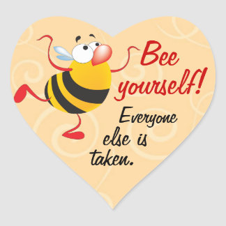 Bee Yourself Funny Reward Stickers