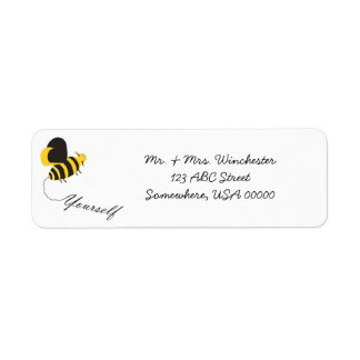 Bee Yourself Label