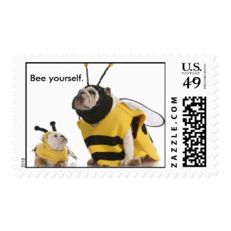 Bee yourself. postage stamp