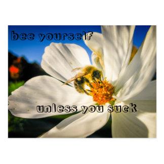bee yourself postcard