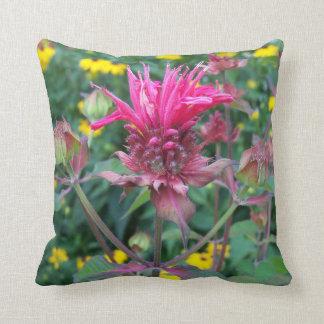 Beebalm Flower Pillow