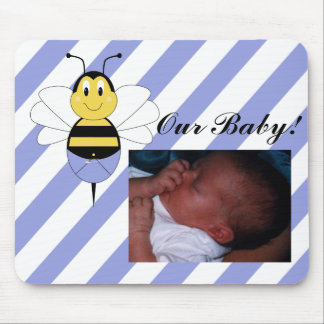 BeeBee Bumble Bee Baby Picture Mousepad