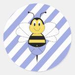BeeBee manosea al pegatina de la abeja