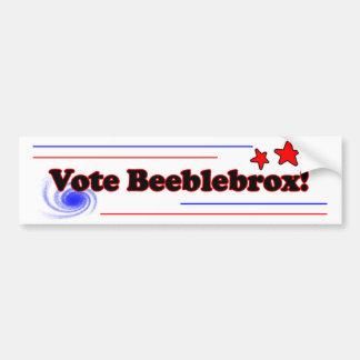 beeblebrox bumper bumper sticker