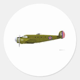 Beech AT-11 Kansan Classic Round Sticker