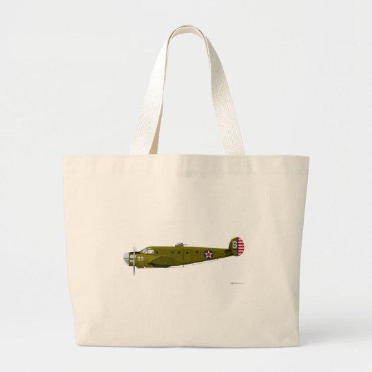 Beech AT-11 Kansan Large Tote Bag