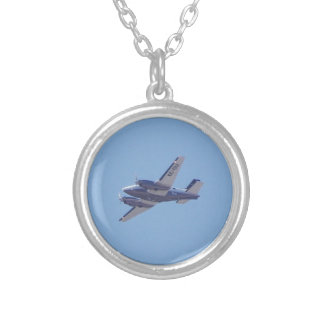 Beech B90 King Air Round Pendant Necklace
