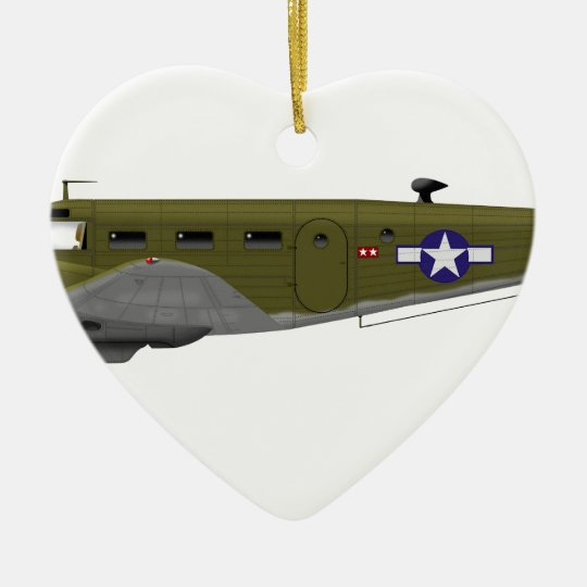 Beech C-45 Expeditor Army Air Corps Ceramic Ornament
