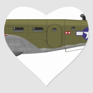 Beech C-45 Expeditor Army Air Corps Heart Sticker
