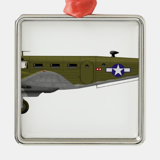 Beech C-45 Expeditor Army Air Corps Metal Ornament