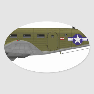 Beech C-45 Expeditor Army Air Corps Oval Sticker