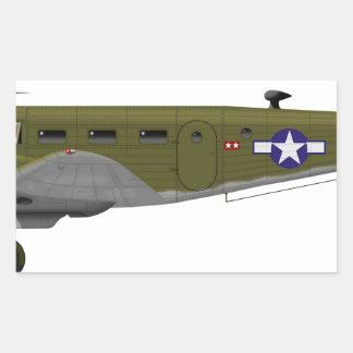 Beech C-45 Expeditor Army Air Corps Rectangular Sticker