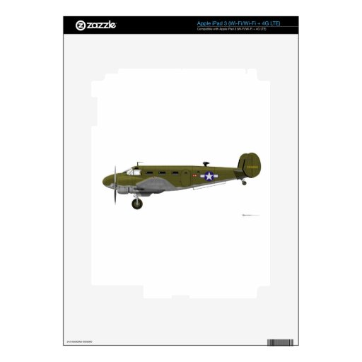 Beech C-45 Expeditor Army Air Corps Decals For iPad 3