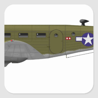 Beech C-45 Expeditor Army Air Corps Square Sticker