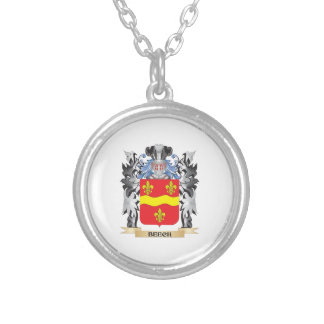 Beech Coat of Arms - Family Crest Round Pendant Necklace