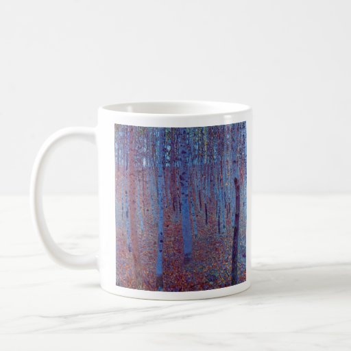 Beech Forest by Gustav Klimt Coffee Mug