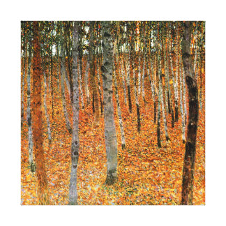 Beech Forest by Gustav Klimt Fine Art Canvas Print