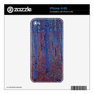 Beech Forest by Gustav Klimt iPhone 4S Skins
