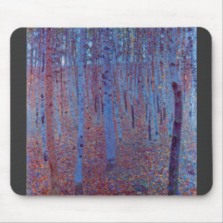 Beech Forest by Gustav Klimt Mouse Pad