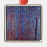 Beech Forest by Gustav Klimt Christmas Tree Ornament