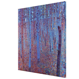Beech Forest by Gustav Klimt, Vintage Art Nouveau Canvas Print