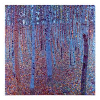 Beech Forest by Gustav Klimt Vintage Art Nouveau Personalized Invitation