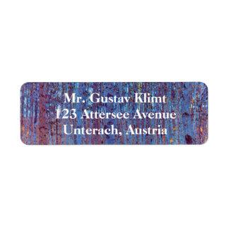 Beech Forest by Gustav Klimt, Vintage Art Nouveau Label