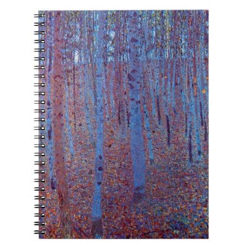 Beech Forest by Gustav Klimt, Vintage Art Nouveau Journal