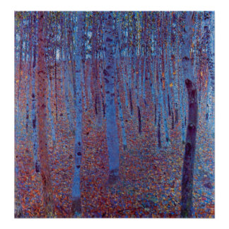 Beech Forest by Gustav Klimt, Vintage Art Nouveau Print