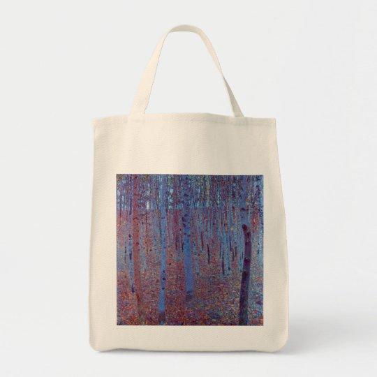 Beech Forest by Gustav Klimt, Vintage Art Nouveau Tote Bag