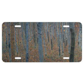 Beech Grove I by Gustav Klimt License Plate