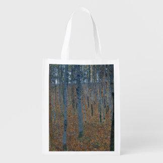 Beech Grove I by Gustav Klimt Reusable Grocery Bag
