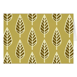 Beech leaf pattern - Camel tan and brown Card